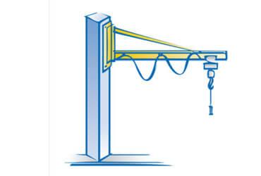 Säulenschwenkkran 270 Grad, leichte Bauweise